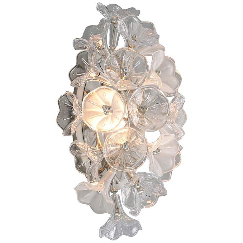 "Corbett Jasmine 17 3/4"" High Silver Leaf LED"