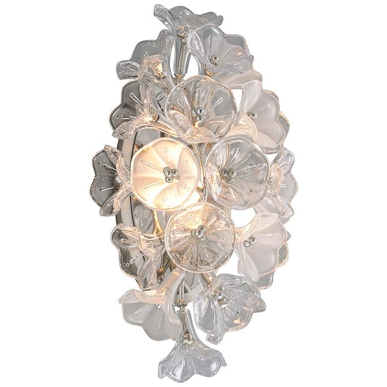 "Corbett Jasmine 17 3/4"" High Silver Leaf LED Wall Sconce"