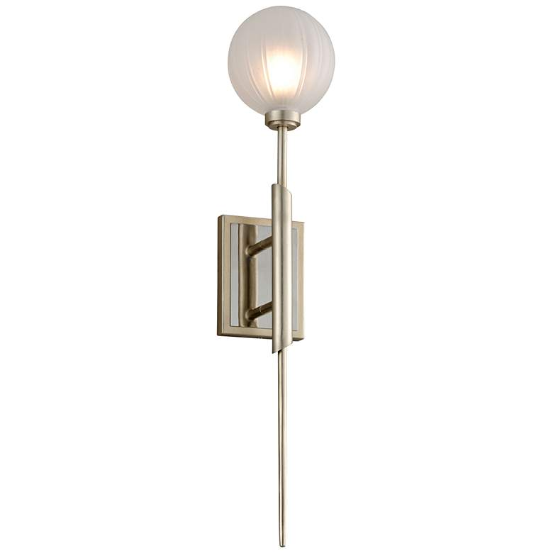 "Corbett Tempest 27"" High Satin Silver Leaf LED Wall Sconce"