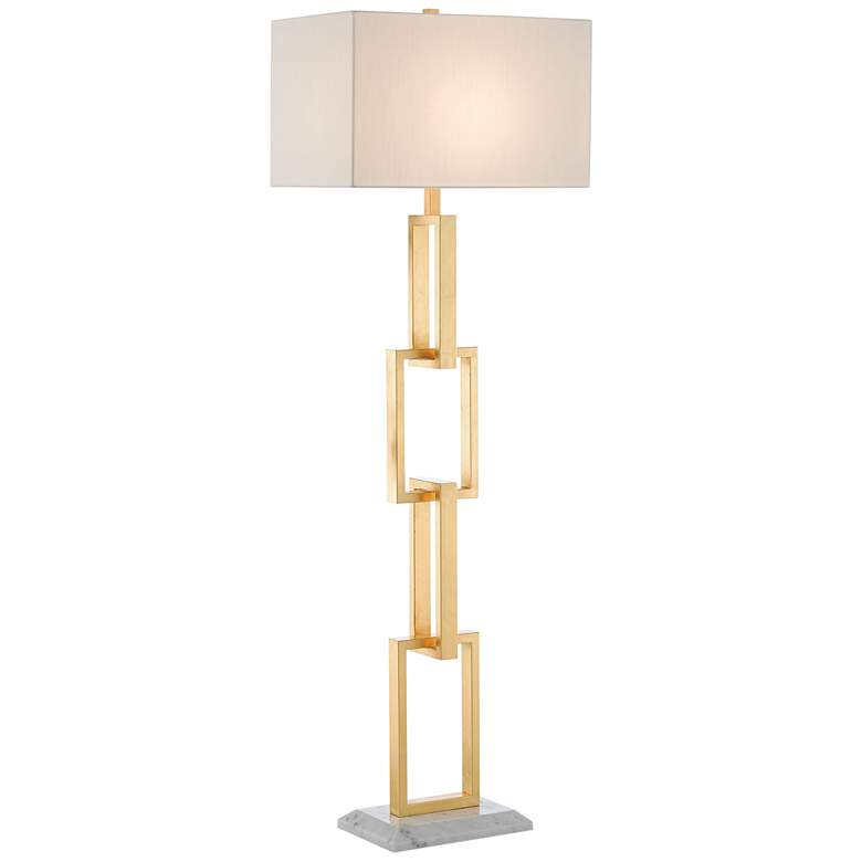 Currey and Company Catena Gold Leaf Chain-Link Floor Lamp