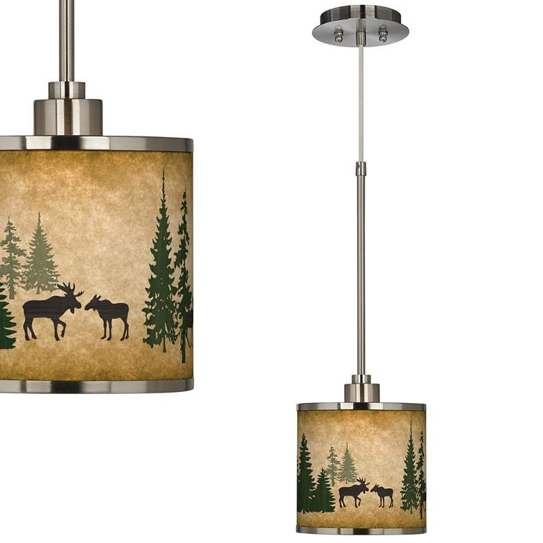 Moose Lodge Giclee Glow Mini Pendant Light
