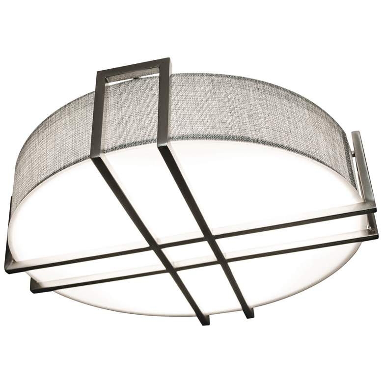 "Lambert 20 1/4"" Wide Satin Nickel LED Ceiling Light"
