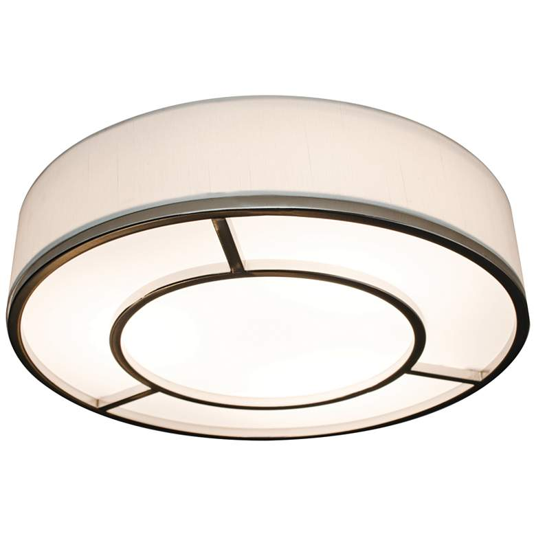 "Reeves 16"" Wide Satin Nickel LED Ceiling Light"