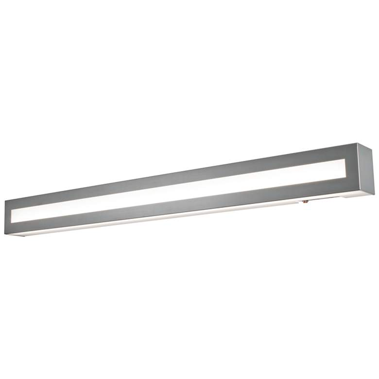 "Hayes 37"" Wide Satin Nickel LED Wall Sconce"