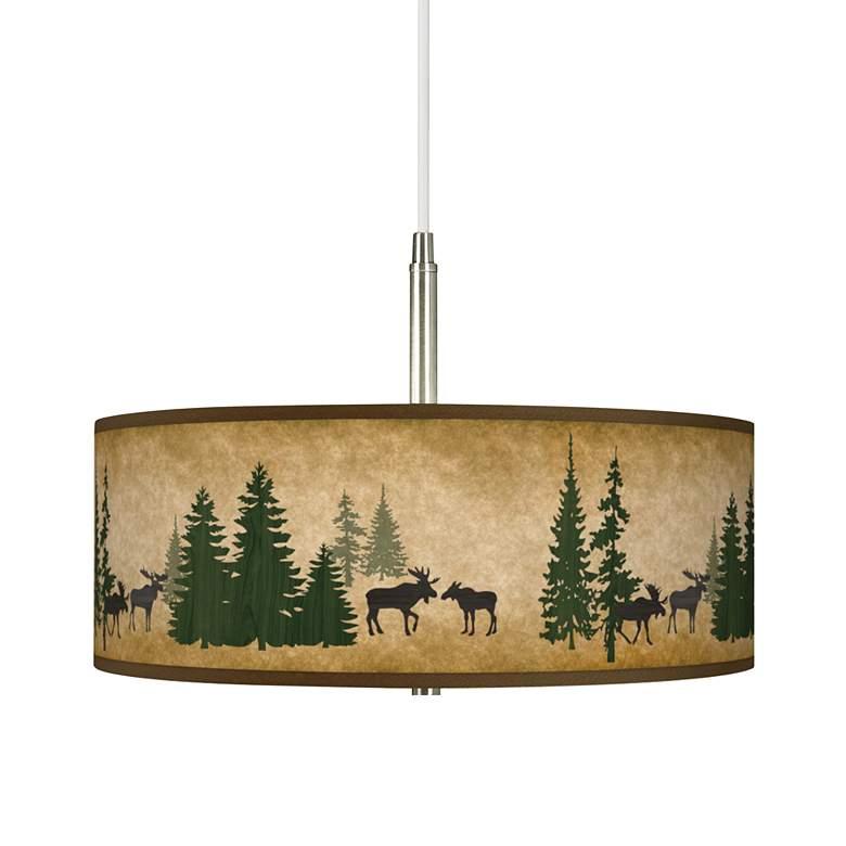 Moose Lodge Giclee Pendant Chandelier