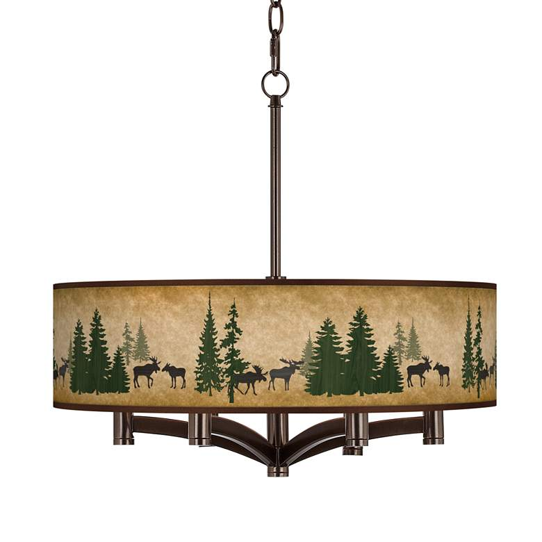 Moose Lodge Ava 6-Light Bronze Pendant Chandelier