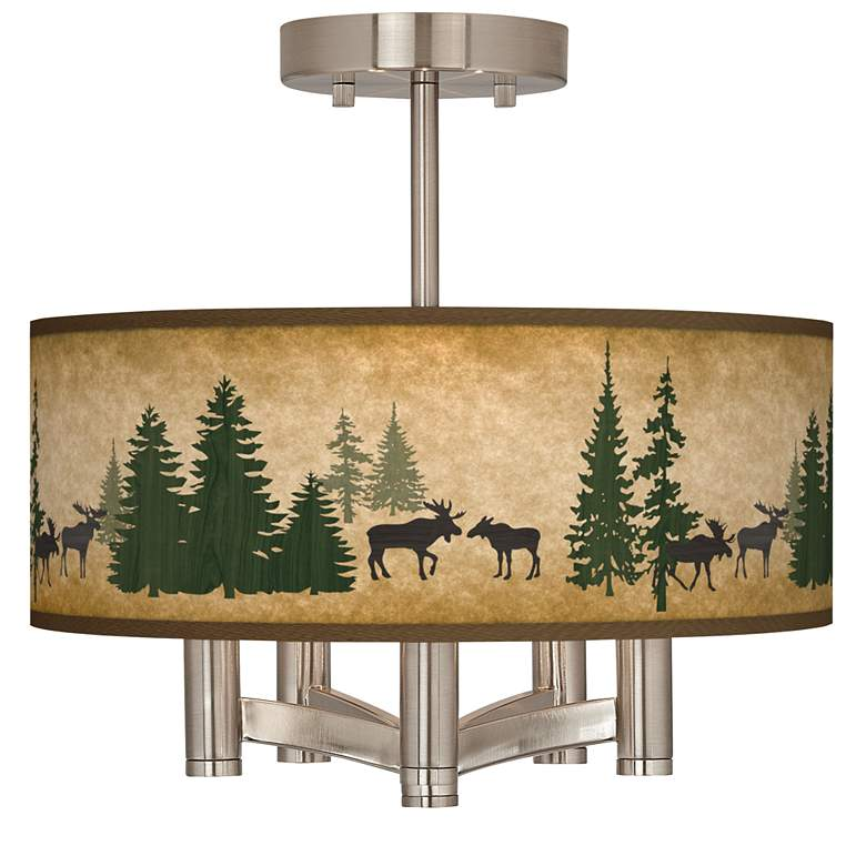 Moose Lodge Ava 5-Light Nickel Ceiling Light