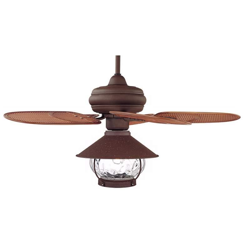 "42"" Casa Vieja Tropical Lantern Outdoor LED Ceiling Fan"