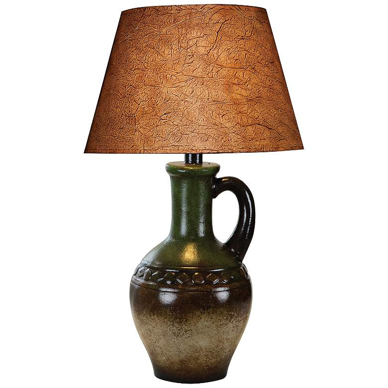 Modria Southwest Multi-Color Hydrocal Jug Table Lamp