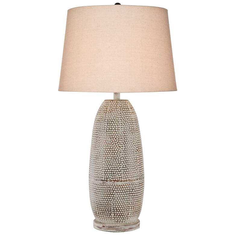 Sandoval Rust Wash Hydrocal Table Lamp