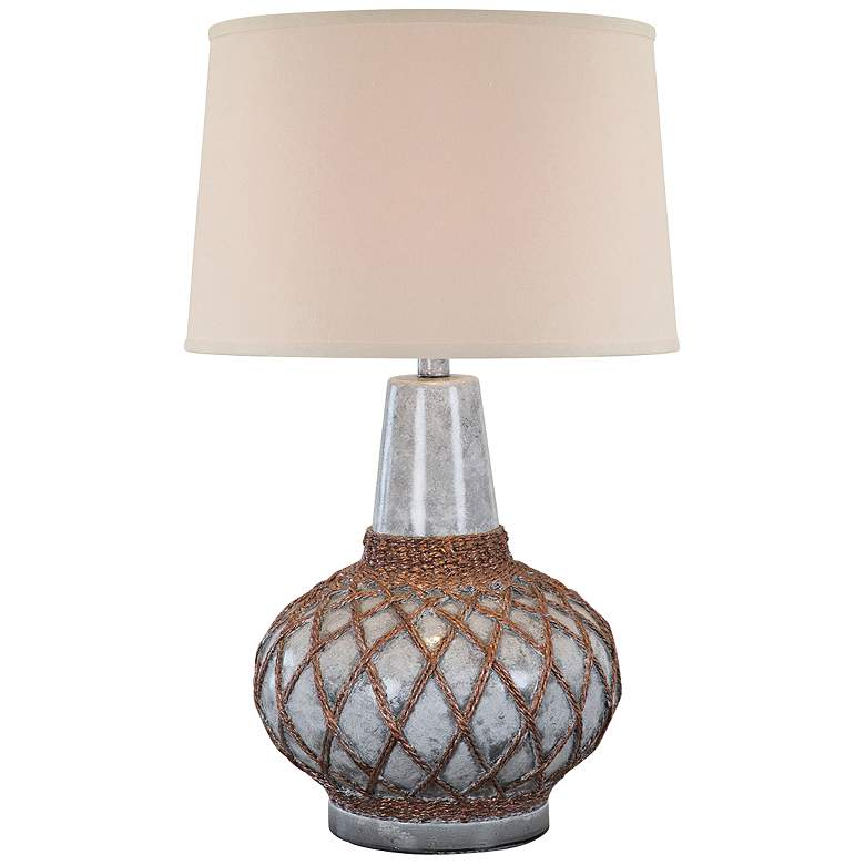 Farallon Ash Marble Hydrocal Netted Table Lamp