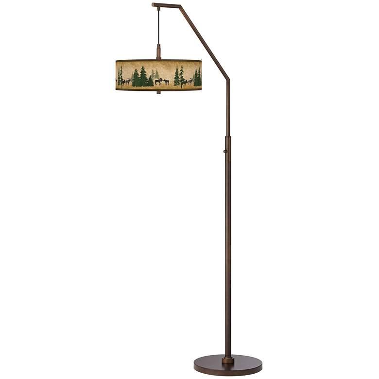 Moose Lodge Bronze Downbridge Arc Floor Lamp