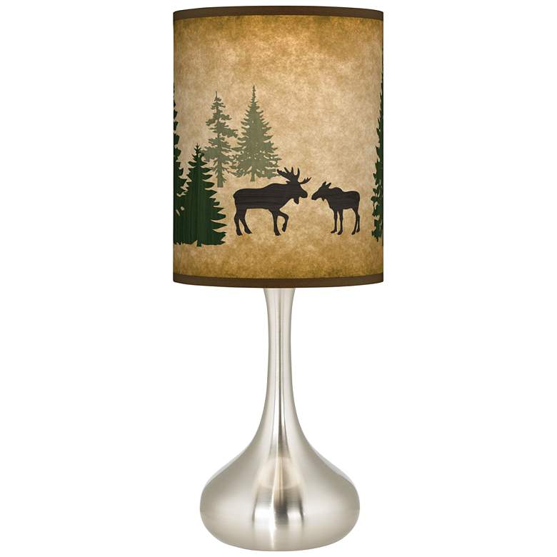 Moose Lodge Giclee Droplet Table Lamp
