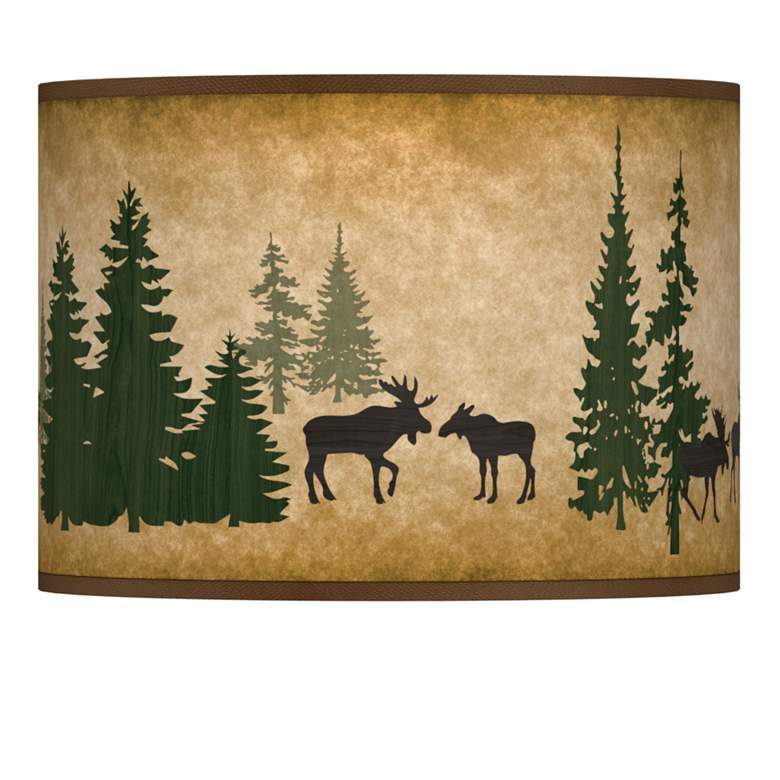 Moose Lodge Giclee Lamp Shade 13.5x13.5x10 (Spider)