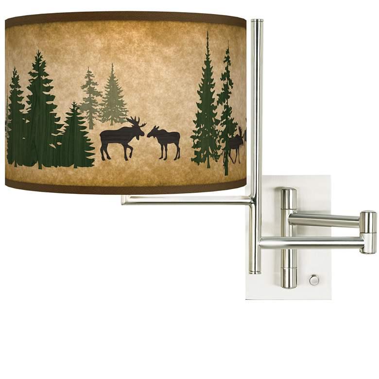 Tempo Moose Lodge Plug-in Swing Arm Wall Lamp