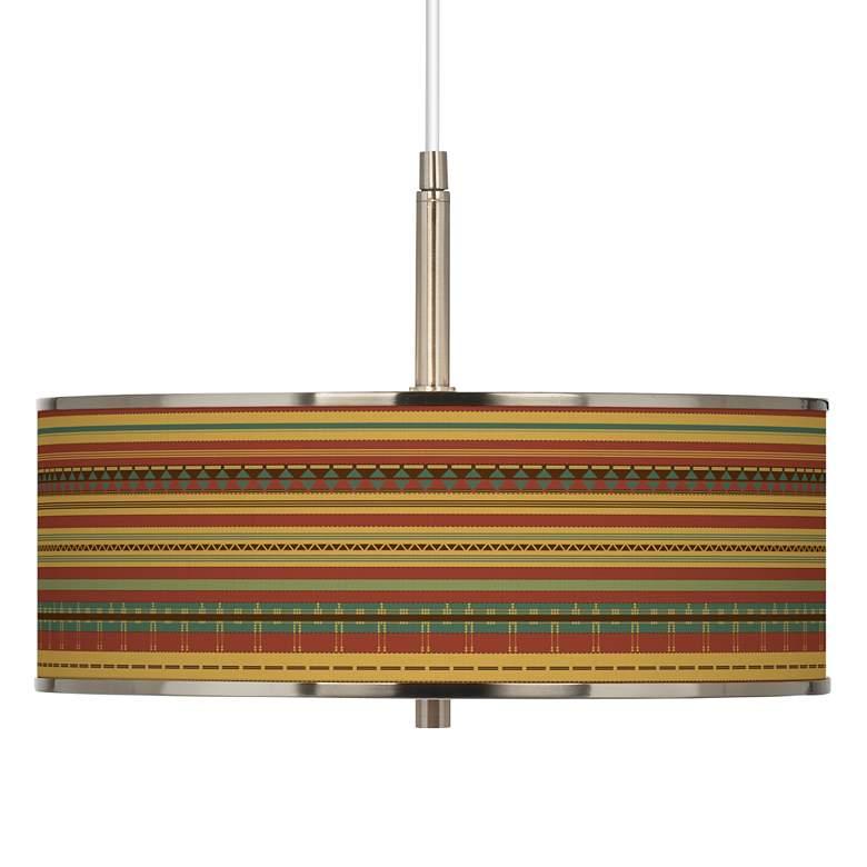 "Southwest Desert Giclee Glow 16"" Wide Pendant Light"
