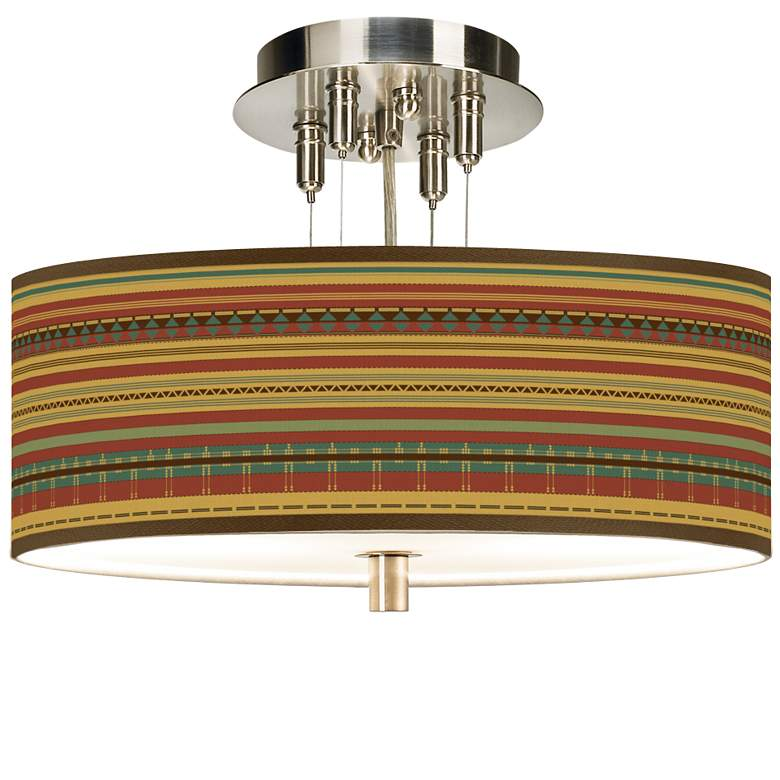 "Southwest Desert Giclee 14"" Wide Ceiling Light"