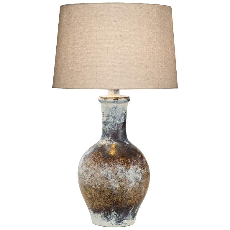 Cepeda Adobe Multi-Color Hydrocal Vase Table Lamp