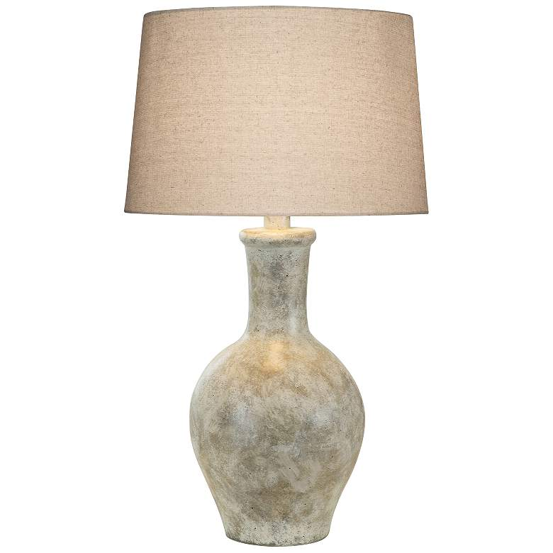 Cepeda Alabaster Hydrocal Vase Table Lamp