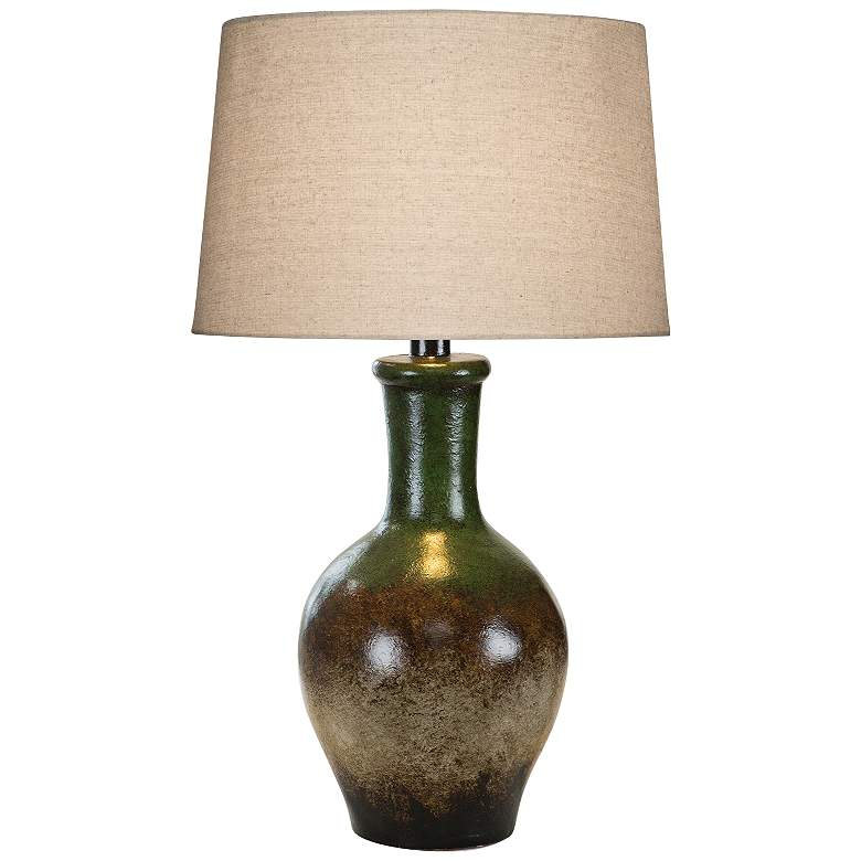 Cepeda Southwest Multi-Color Hydrocal Vase Table Lamp