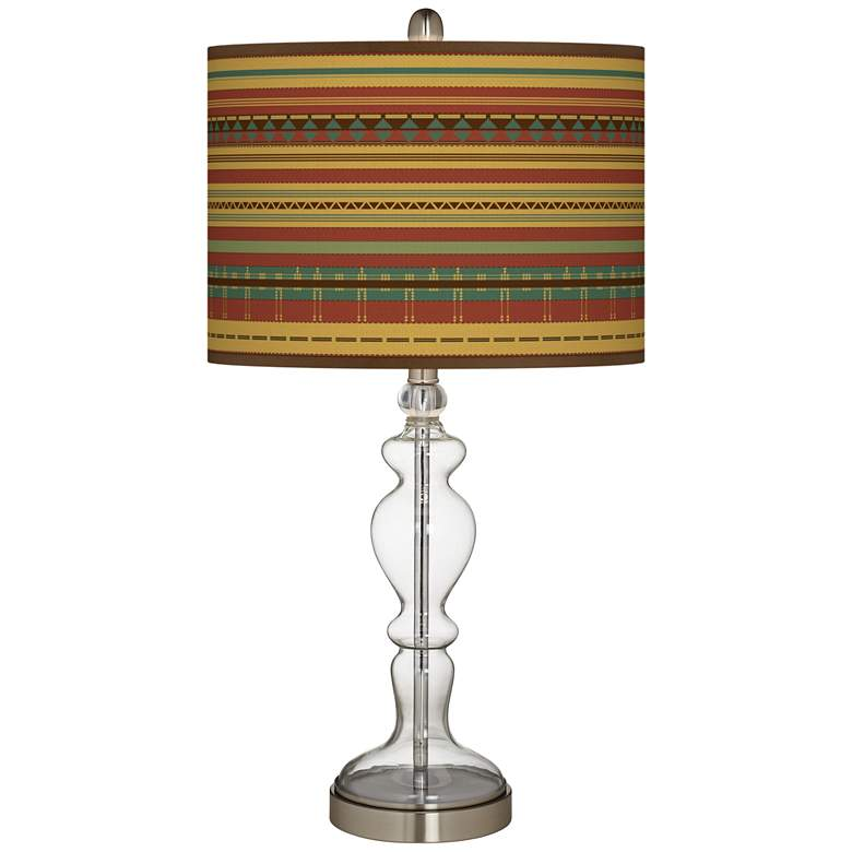 Southwest Desert Giclee Apothecary Clear Glass Table Lamp