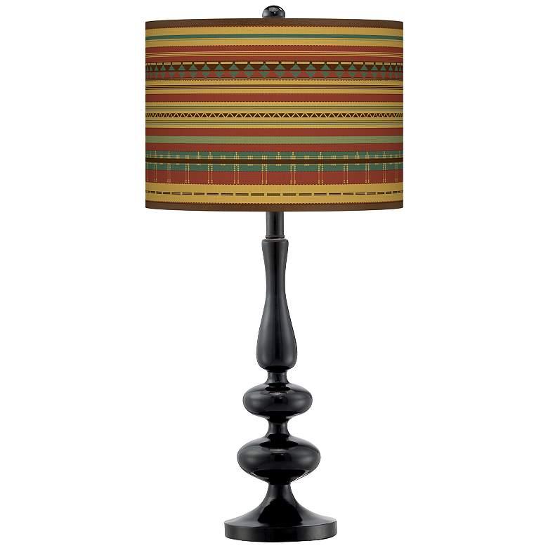 Southwest Desert Giclee Paley Black Table Lamp