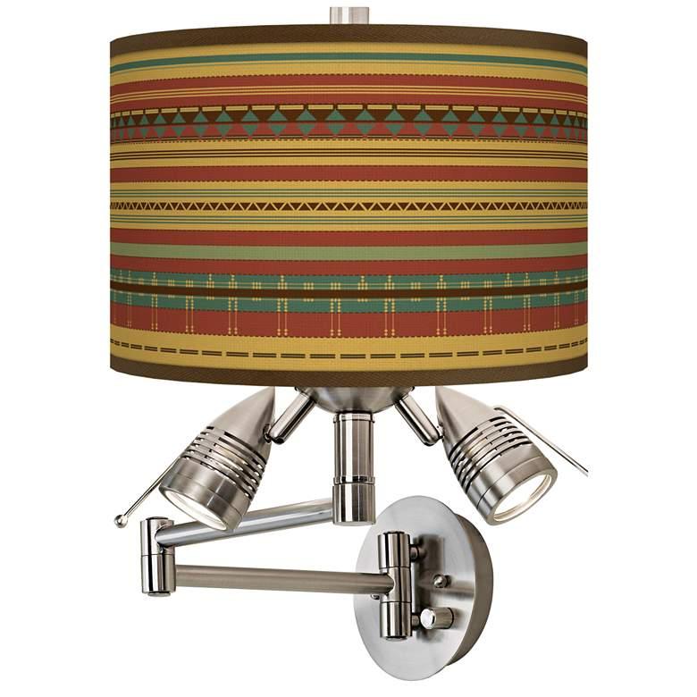 Southwest Desert Giclee Plug-In Swing Arm Wall Lamp