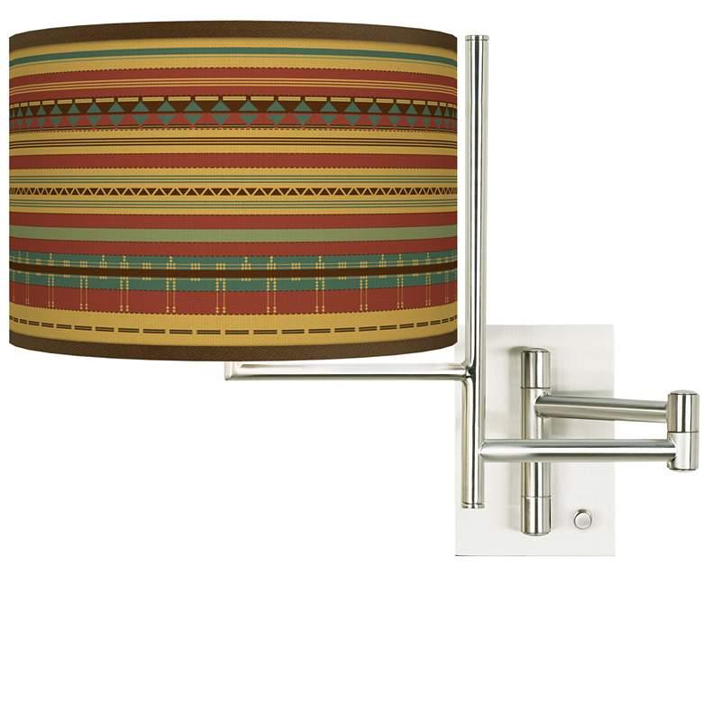 Tempo Southwest Desert Plug-in Swing Arm Wall Lamp
