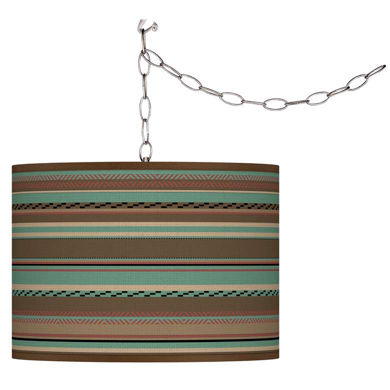 Southwest Shore Giclee Glow Plug-In Swag Pendant