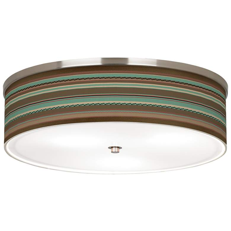 "Southwest Shore Giclee Nickel 20 1/4"" Wide Ceiling Light"