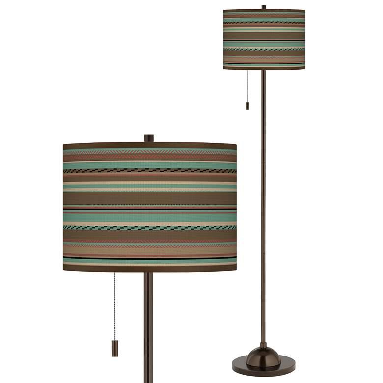 Ulysses Oil Rubbed Bronze Industrial Lantern Floor Lamp