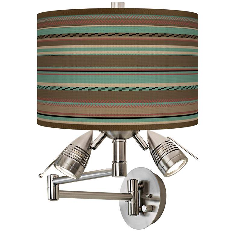 Southwest Shore Giclee Plug-In Swing Arm Wall Lamp