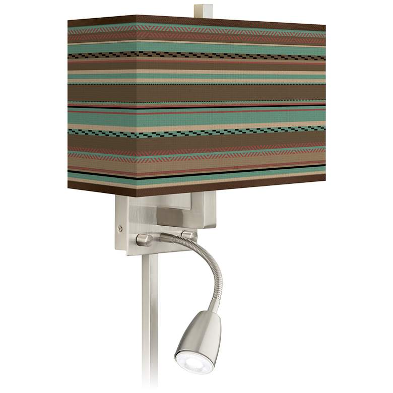 Southwest Shore Giclee Glow LED Reading Light Plug-In Sconce