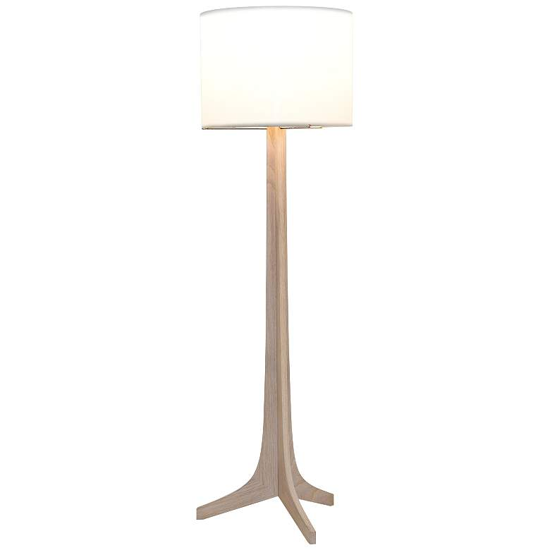 Cerno Nauta White Oak Brass LED Floor Lamp