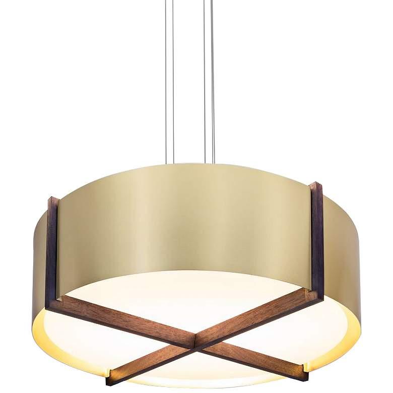 "Cerno Plura 36"" Wide Brushed Brass LED Pendant Light"