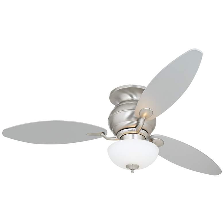 """60"""" Spyder™ White Opal Glass Hugger LED Ceiling Fan"""