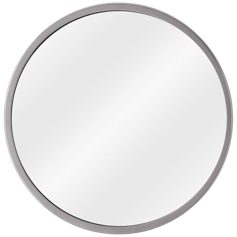 """Hoop Nickel 23 1/2"""" Round Wall Mirror"""