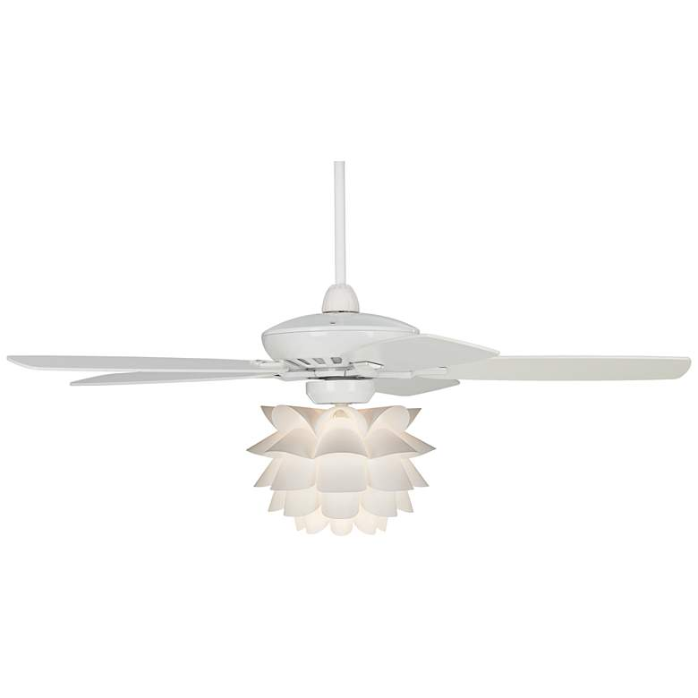 """52"""" Casa Journey White Flower LED Ceiling Fan"""