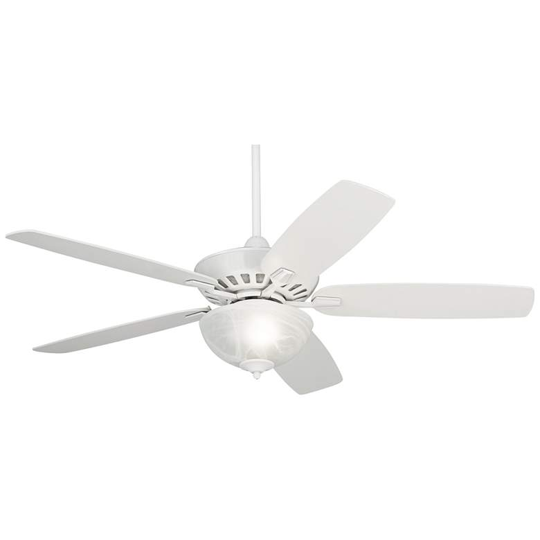 "52"" Journey White Ceiling Fan with a LED Light Kit"