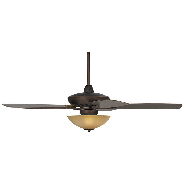 "52"" Casa Journey Bronze Scavo Glass LED Ceiling Fan"
