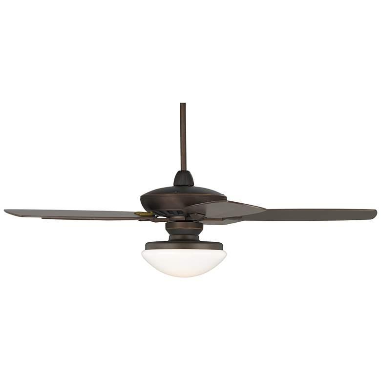 "52"" Casa Journey Bronze Opal Glass Dome LED Ceiling Fan"
