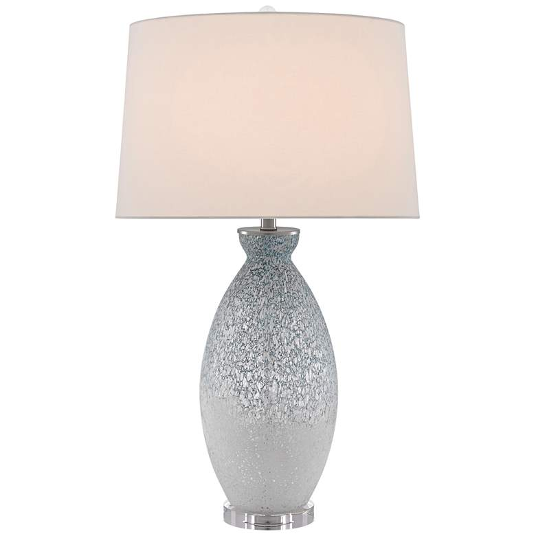 Currey and Company Harita Pale Blue and White Table Lamp