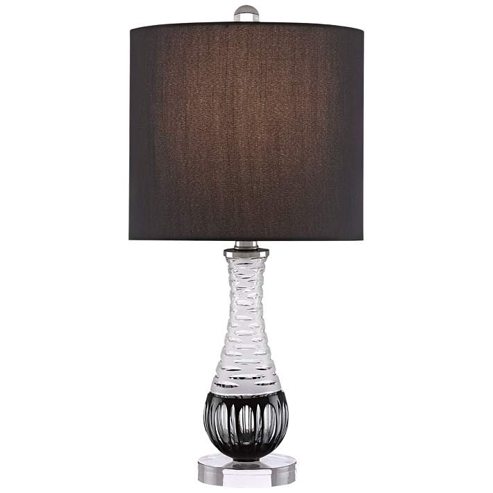 Sanchez Frosted and Black Glass Accent Table Lamp