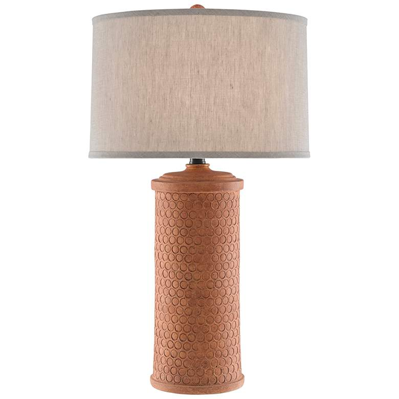 Currey and Company Mesoma Speckled Terracotta Table Lamp