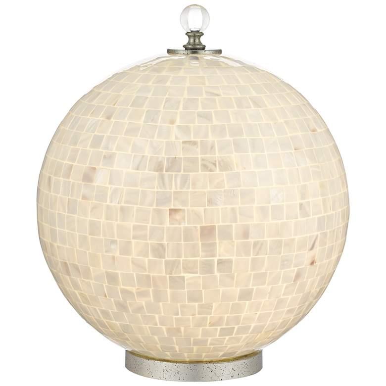 "Finhorn 18 1/2"" High Pearl Globe Accent Table"