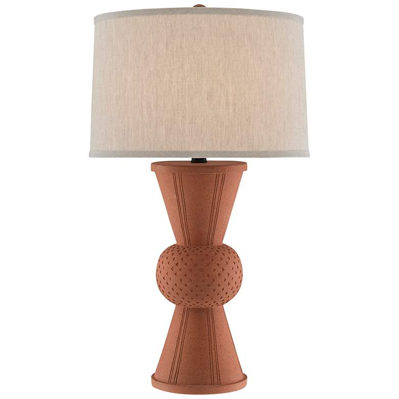 Currey and Company Brigade Speckled Terracotta Table Lamp