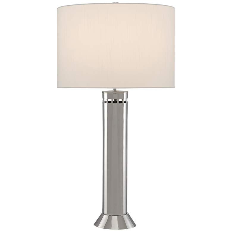 Currey and Company Alford Nickel Column Table Lamp