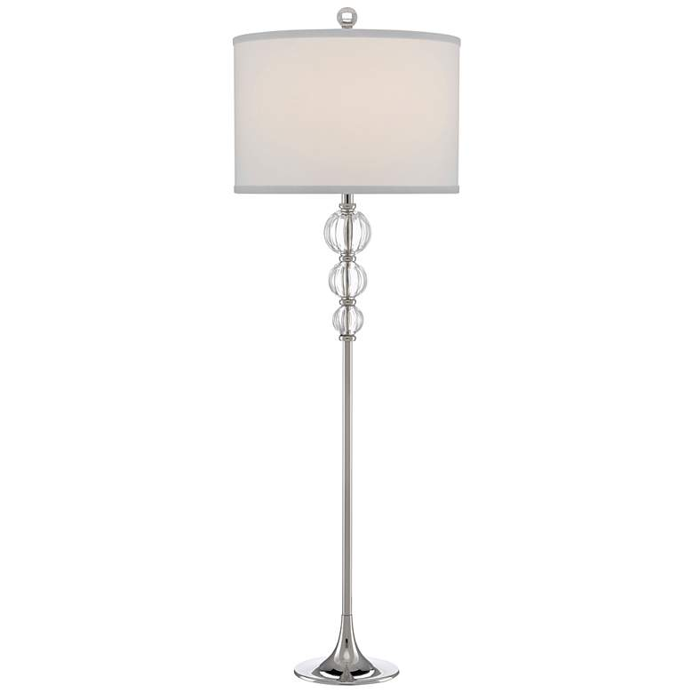 Currey and Company Marvin Nickel Metal Stem Table Lamp