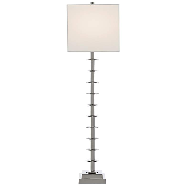 Currey and Company Provision Nickel Discs Stem Table Lamp