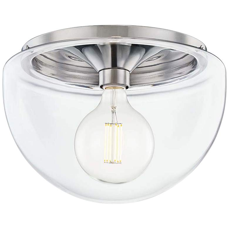 "Mitzi Grace 13 3/4"" Wide Polished Nickel Ceiling Light"